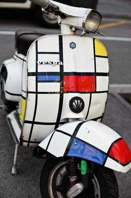 Mondrian art on a Vespa and what ya get is Hella Good!