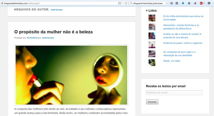 Jarid é colaboradora do site Blogueiras Feministas.