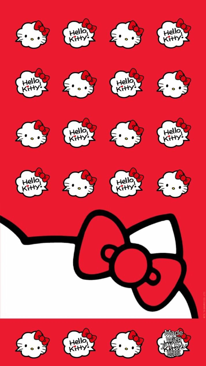 red hello kitty wallpaper. Black Bedroom Furniture Sets. Home Design Ideas