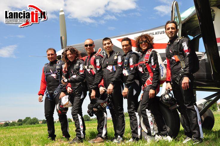 Il team di paracadutismo A.S.D. Lanciati.it