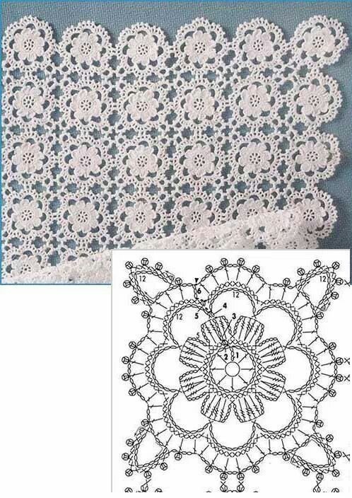Crochet Motif - Free Crochet Diagram - (tecendoartesesonhos.blogspot):