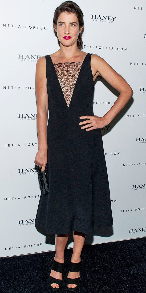 Cobie wears Haney Pret-a-Couture // Cobie Smulders Steps Out Wearing A Buzz-Worthy New Designer