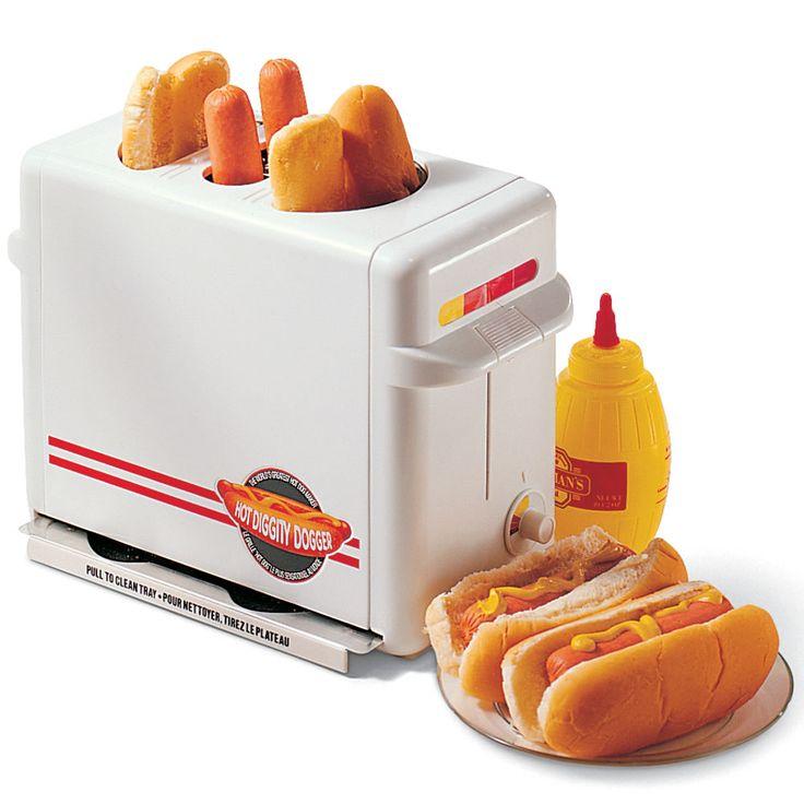 The Pop-Up Hot Dog Cooker - Hammacher Schlemmer