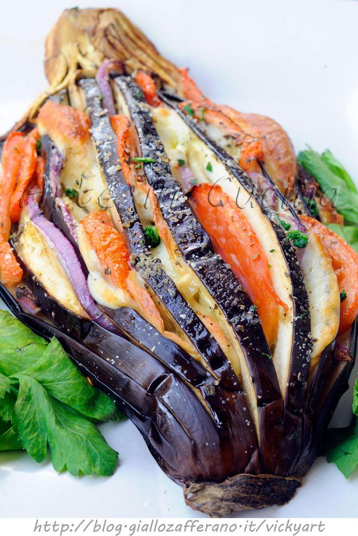 Melanzane farcite al forno ricetta sfiziosa vickyart arte in cucina