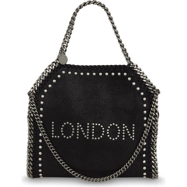 Stella Mccartney Falabella london mini tote (2.790 BRL) ❤ liked on Polyvore featuring bags, handbags, tote bags, dome purse, chain handbags, mini tote handbag, mini tote bags and stella mccartney purse