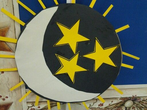 On the fourth day of creation god created the sun moon for Moon and stars crafts