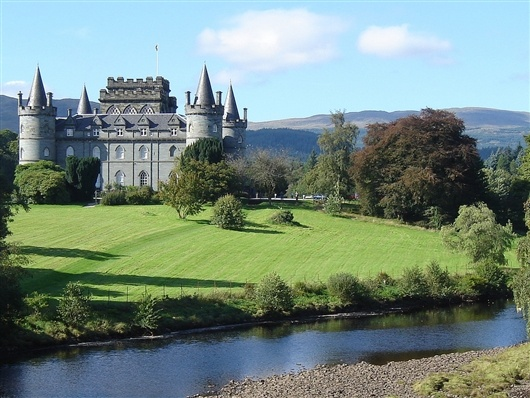 Really impressed with the castles and old monuments dotted all over the UK     For example, Inveraray Castle in Argyll Scotland.