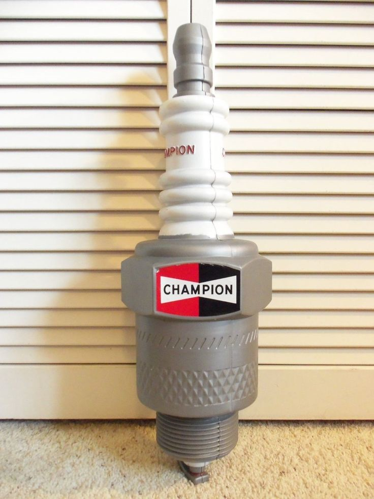Vintage Original Champion Spark Plug 3d Sign Old Gas