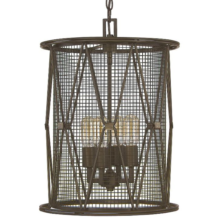 X cage urban 4 light cylinder lantern
