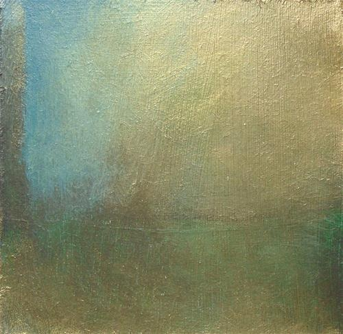 """Green shadows in sun"" - Original Fine Art for Sale - © Tina Mammoser"