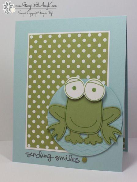 Stampin' Up! Playful Pals Frog Smile Card