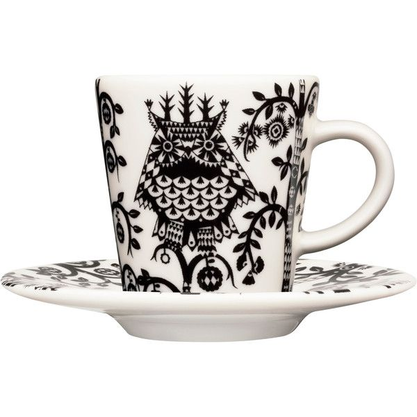 Iittala Taika Espresso Cup - Black (65 BRL) ❤ liked on Polyvore featuring home, kitchen & dining, drinkware, drinks, fillers, interior design, tea, black espresso cups, black drinkware and iittala