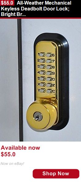 Magazine Back Issues: All-Weather Mechanical Keyless Deadbolt Door Lock: Bright Brass BUY IT NOW ONLY: $55.0
