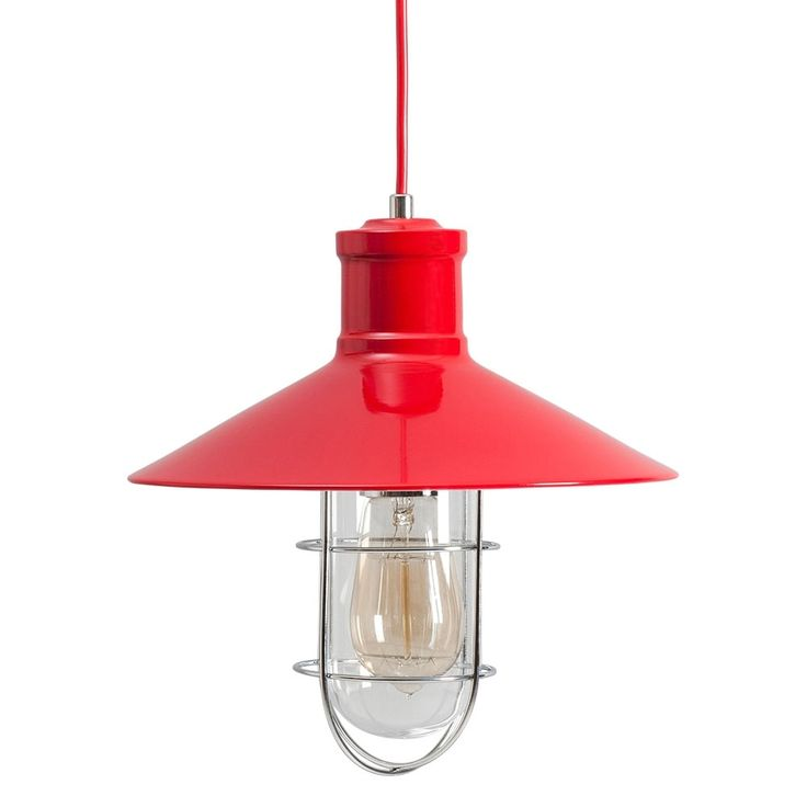 Harbour Red Caged Pendant Light | Cult UK