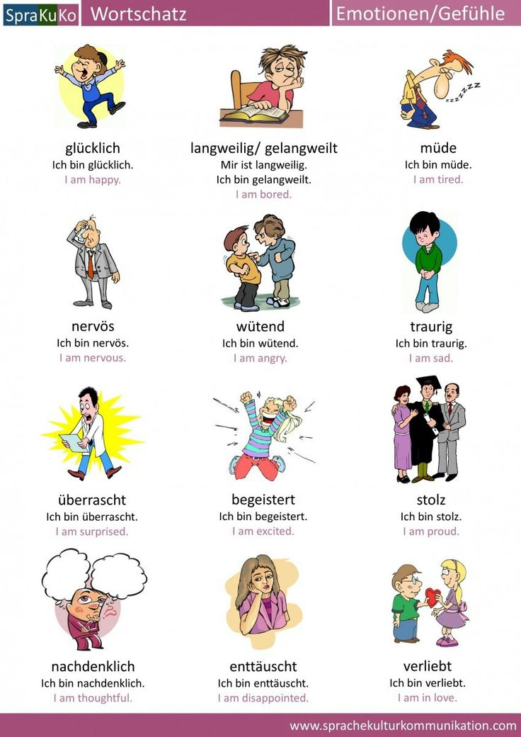 Gefühle In Englisch