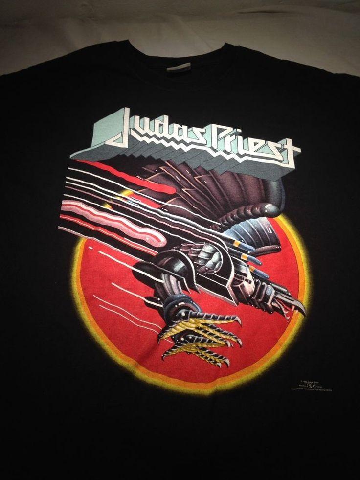 XL Judas Priest Screaming for vengeance tour concert shirt 1982 Halford metal #Brockum #GraphicTee