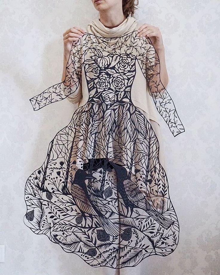 Kağıt Kesme Sanatıyla Moda İllüstrasyonları Tasarlayan Sanatçı: 'Eugenia Zoloto' Sanatlı Bi Blog 49