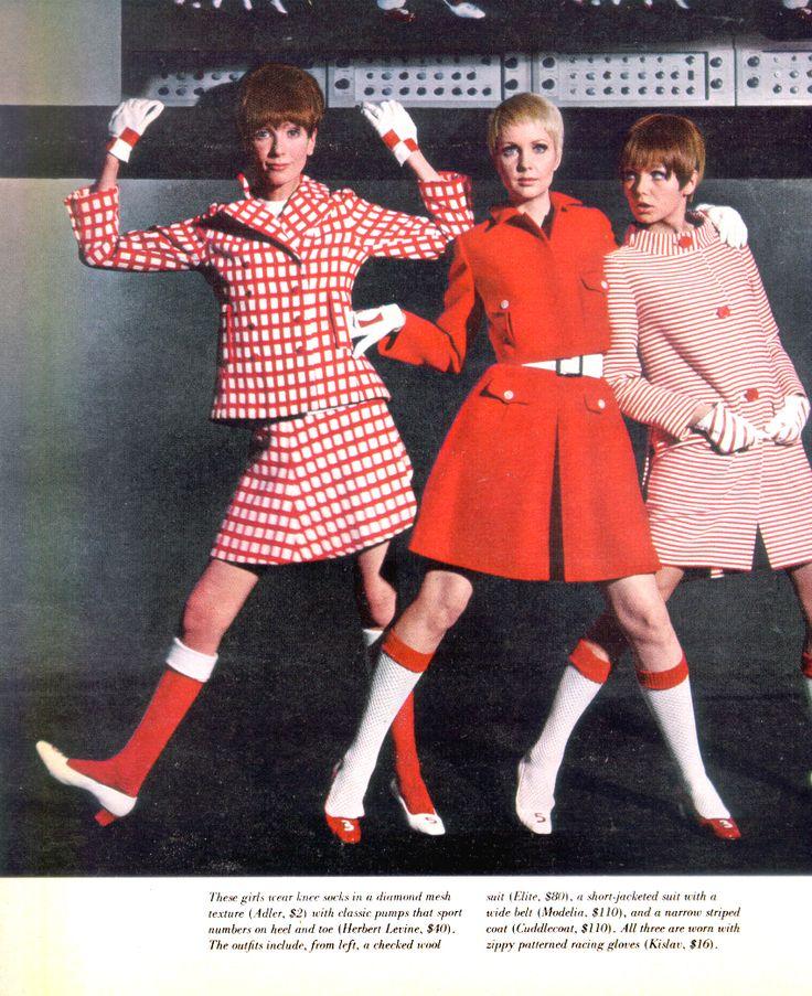 1960s giacca a quadri + cappottino rosa (i calzettoni... anche no)