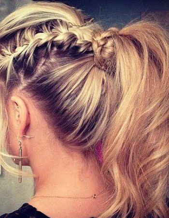 Braided ponytail i wana do this so bad!