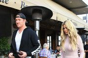 Kroy Biermann and Kim Zolciak Are Seen Leaving a LA Restaurant