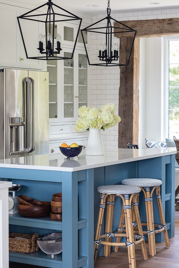 White And Blue Lake House Kitchen Lake House Kitchen Kitchen Design Centre Home Kitchens