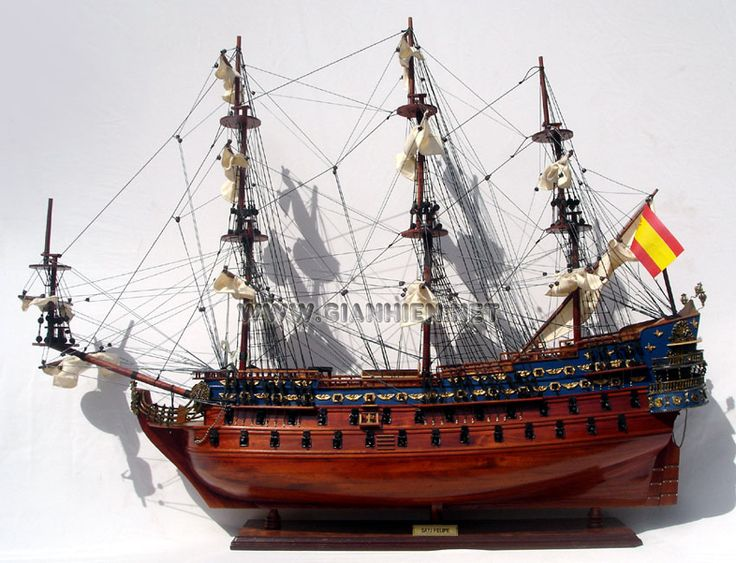 The San Felipe Launched in 1690, was one of the most beautiful Spanish ships of its era. She was led the Spanish Armada.