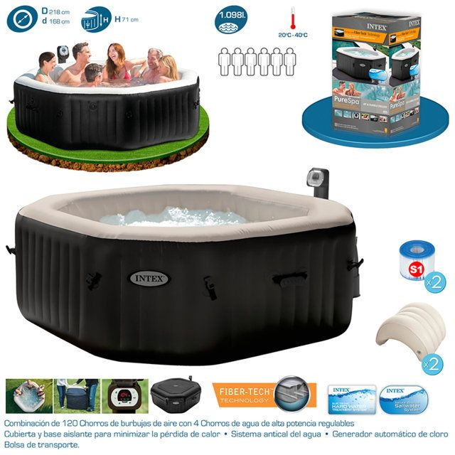 23 best spa hinchable un placer al alcance de todos for Jets para jacuzzi