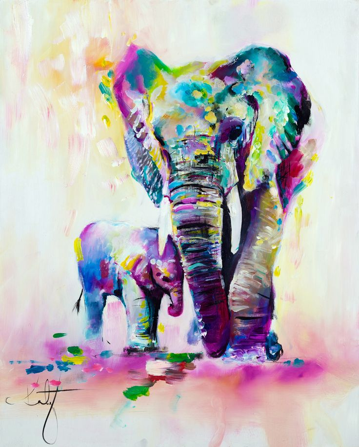 Katy Jade Dobson 'Mother & Baby' Oil Painting - The Spectrum Collection