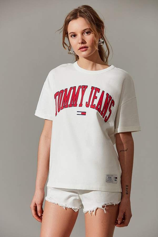 20b341f0413252 Tommy Jeans Collegiate Crew-Neck Tee | Clothes. | Tommy hilfiger ...