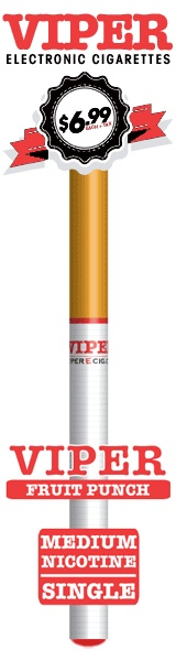 Fruit Punch Soft-Tip Disposable E-Cig From Viper Electronic Cigarettes.