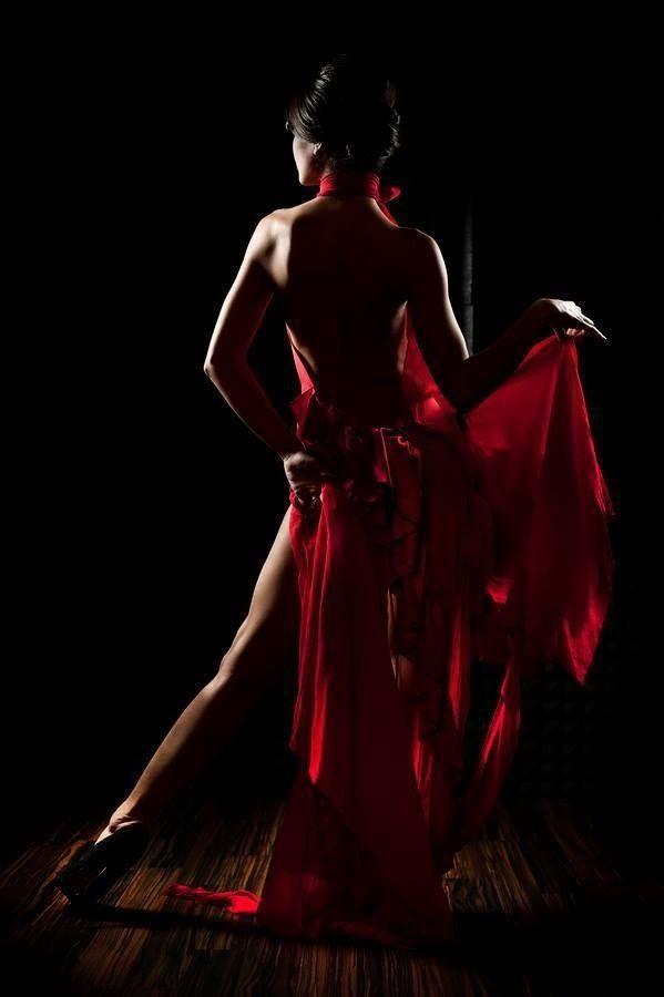 Luxury Woman Red Dress