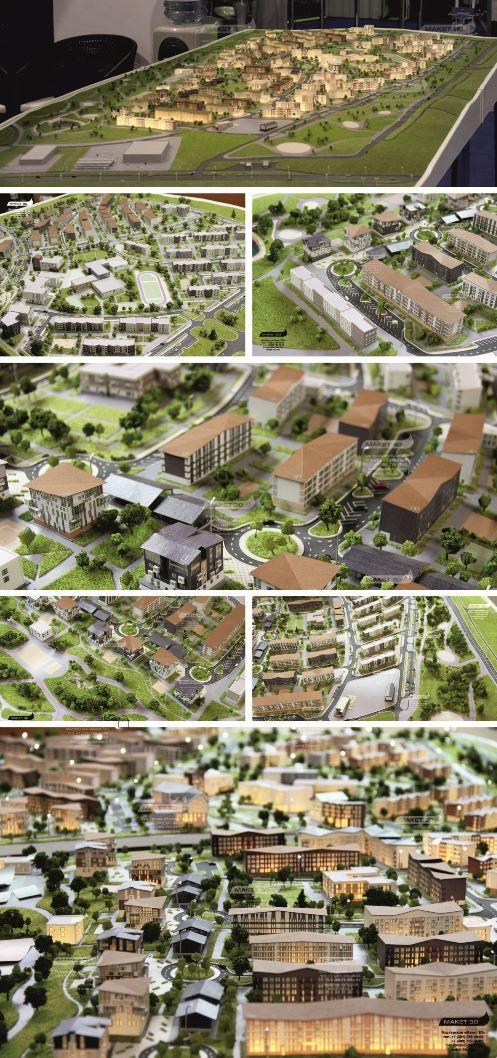 Model of new residential area in Krasnoyarsk