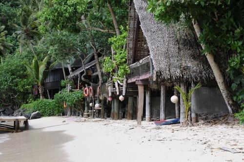 my Auntie Tisa's place at Alega Beach, American Samoa... Tisa's Barefoot Bar