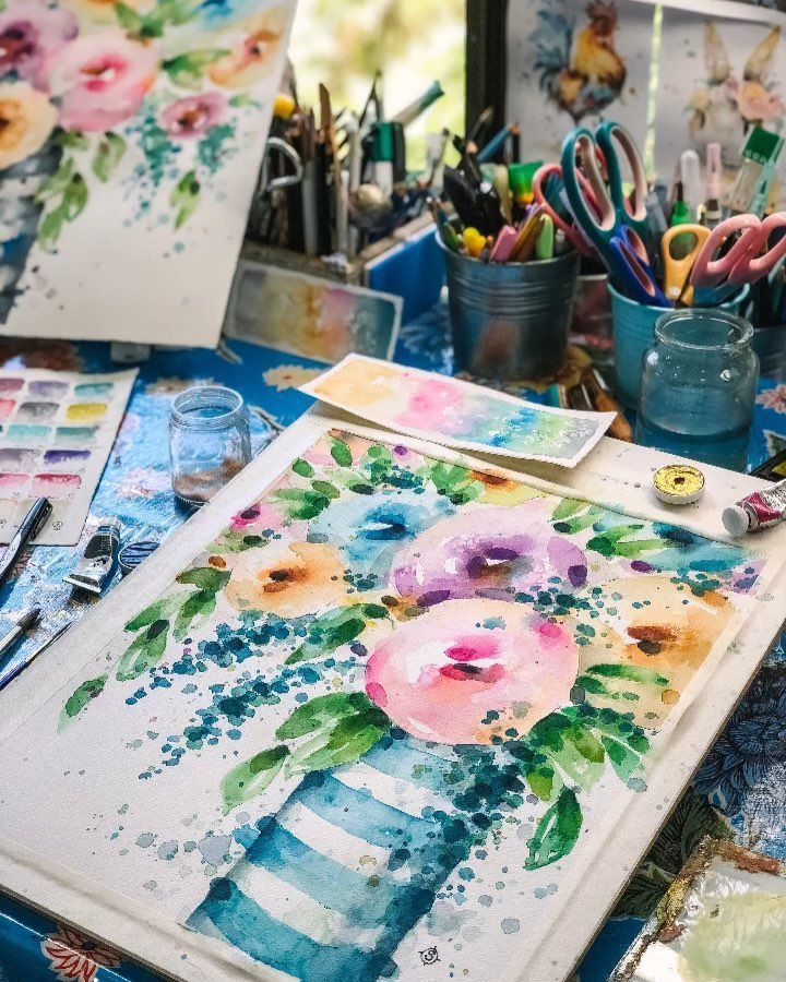 Learn To Paint With Water Colour Artist Sillier Than Sally In Person Classes In Australia And Online Classes Mother S Day Learn To Paint Flower Art