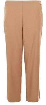Womens camel flannel culottes from New Look - £22.99 at ClothingByColour.com