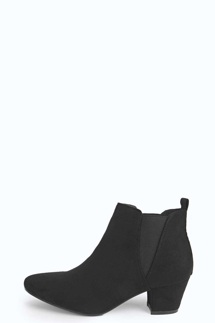 Emma Elastic Insert Pointed Toe Chelsea Boot