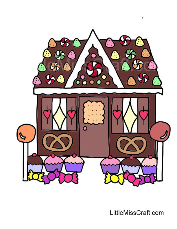 64 best printable coloring pages images on pinterest for Coloring pages of gingerbread houses
