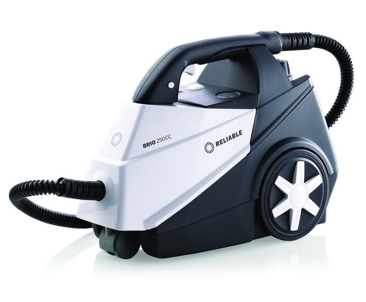 Reliable Corporation's Brio 250CC Steam Cleaner stores easily into the body of the unit. Space-saving and convenient.