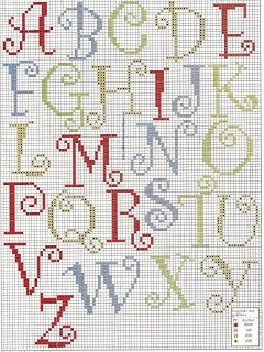 Alphabet | Filet crochet alphabet | Pinterest