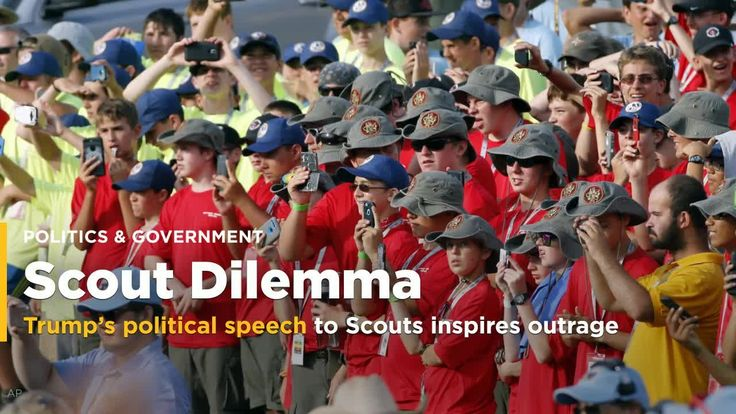 Trump shows the Boy Scouts how to start a political fire