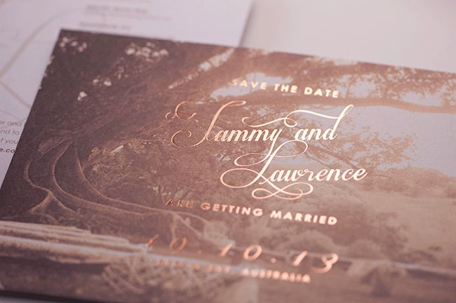 bronze foil save the date #wedding
