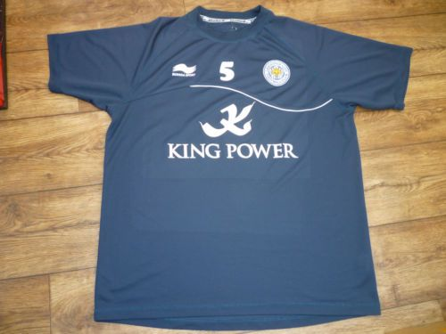 """Leicester City FC Training Top (Number 5) Large Mans 42"""" Chest"""