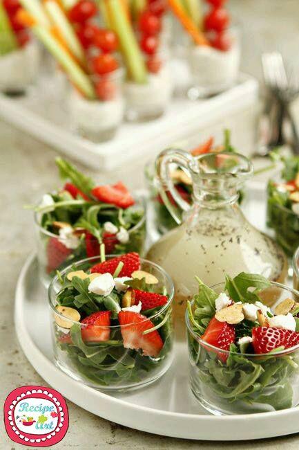 Insalata di rucola e fragole - Strawberry and rocket salad