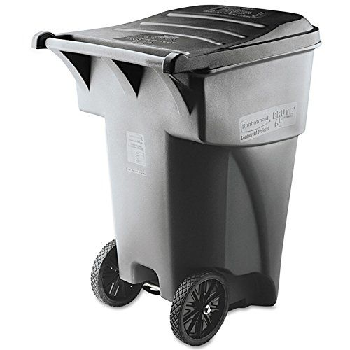 The #Rubbermaid Commercial BRUTE Roll-Out Trash with Lid offers easy mobility for general refuse collection and material handling. The heavy-duty, one-piece hand...