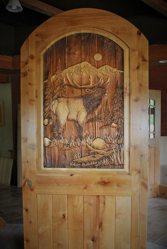 Carved Wood Front Doors Great River Door Co Wooden Doors Wooden Door Design Rustic Doors