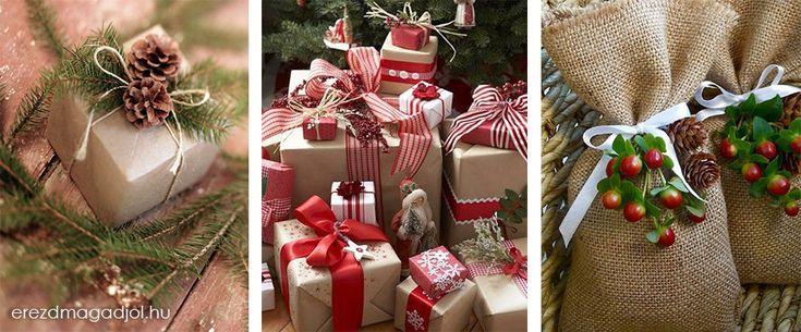 Karácsonyi ajándék csomagolás – Karácsony 2013
