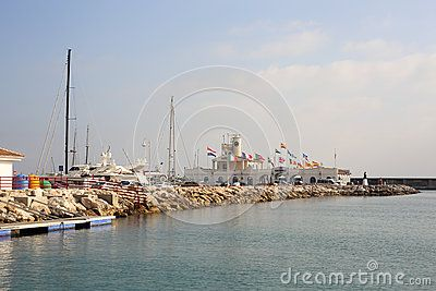 Puerto Marina Benalmadena Spain Andalicia. Picture taken in december 2015.