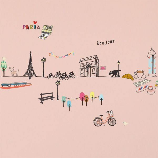 Fun and stylish wall decoration, the Paris wall sticker is a must have for lovers of the city