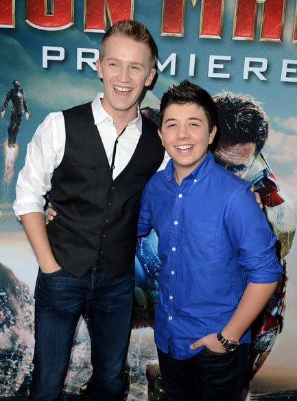 "Bradley Steven Perry And Jason Dolley At Marvel's ""Iron Man 3″ Premiere  -   Love these guys!"