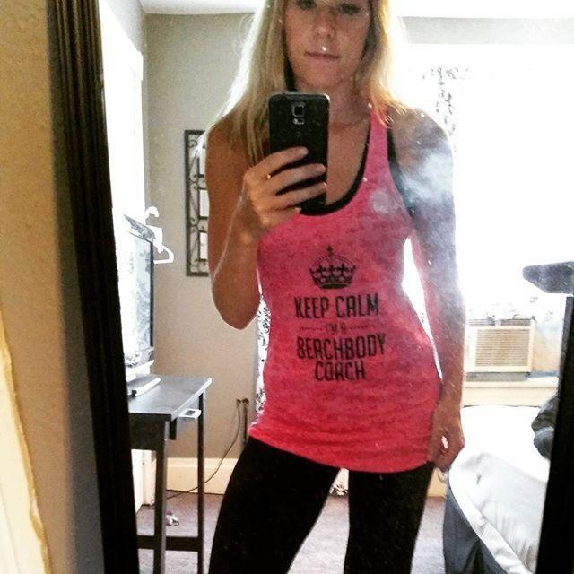 Keep calm, I'm a beach body coach tank! #beachbodycoach #beachbody #shakeology #fitmama #fitness #weightloss #weight #shakeology #21dfx #dirtymirror